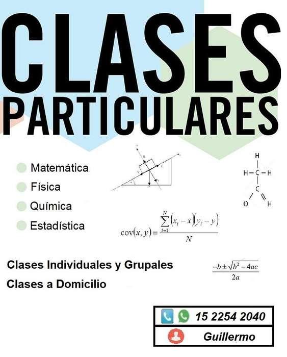 Clases Particulares de Física, Química, Matemática y Estadística Nivel Primario, Secundario, Terciario y CBC
