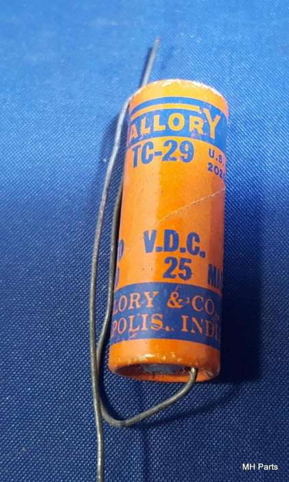 Capacitor electrolítico Mallory TC29 hecho en EE. UU.