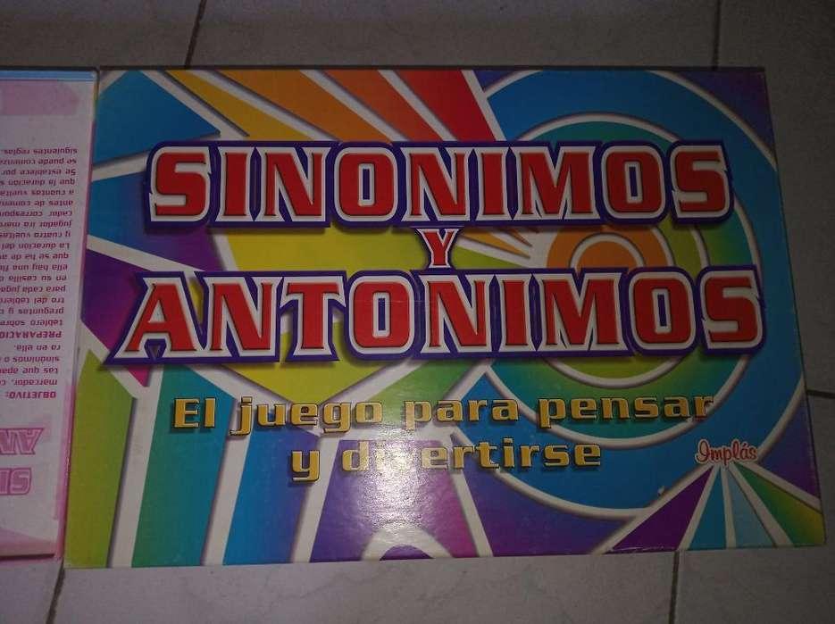 Juego de Mesa Sinónimos Y Antónimos