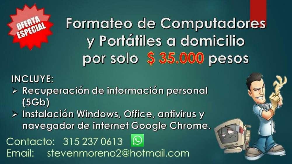 Formateo Y Programacion de Pc Y Portatil