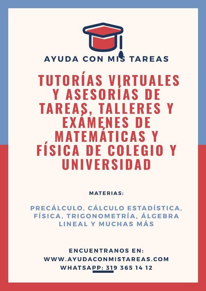 Tutorías Y Tareas de Matemáticas