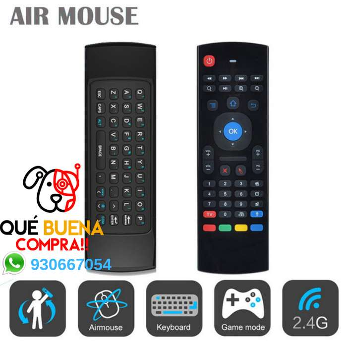 MINI TECLADO AIR MOUSE INALAMBRICO - MAGIC CONTROL