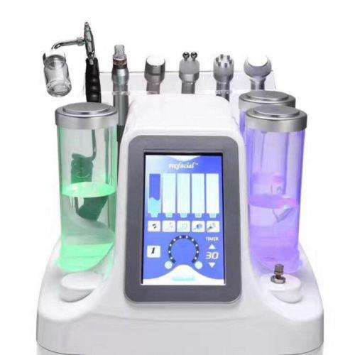 6 EN 1 Hidro micro dermoabrasion Oxígeno Jet Peel Cold Hammer BIO Ultrasonido RF Machine Para Limpieza Facial Profunda