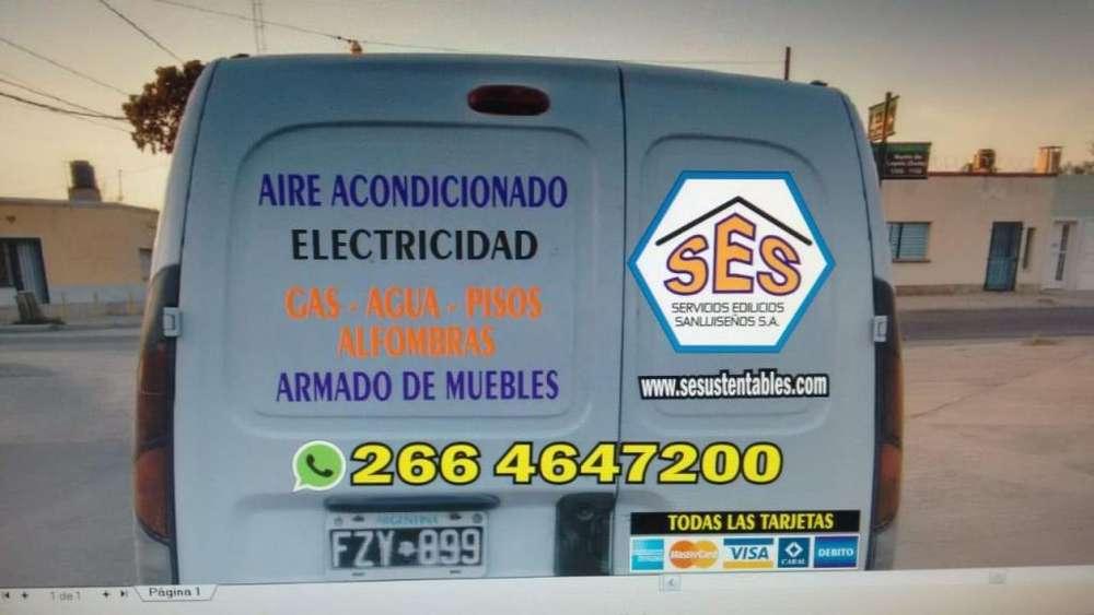 Instalaciones Aire Acond, Luminarias, Electricidad, Gas, Muebles, Pisos