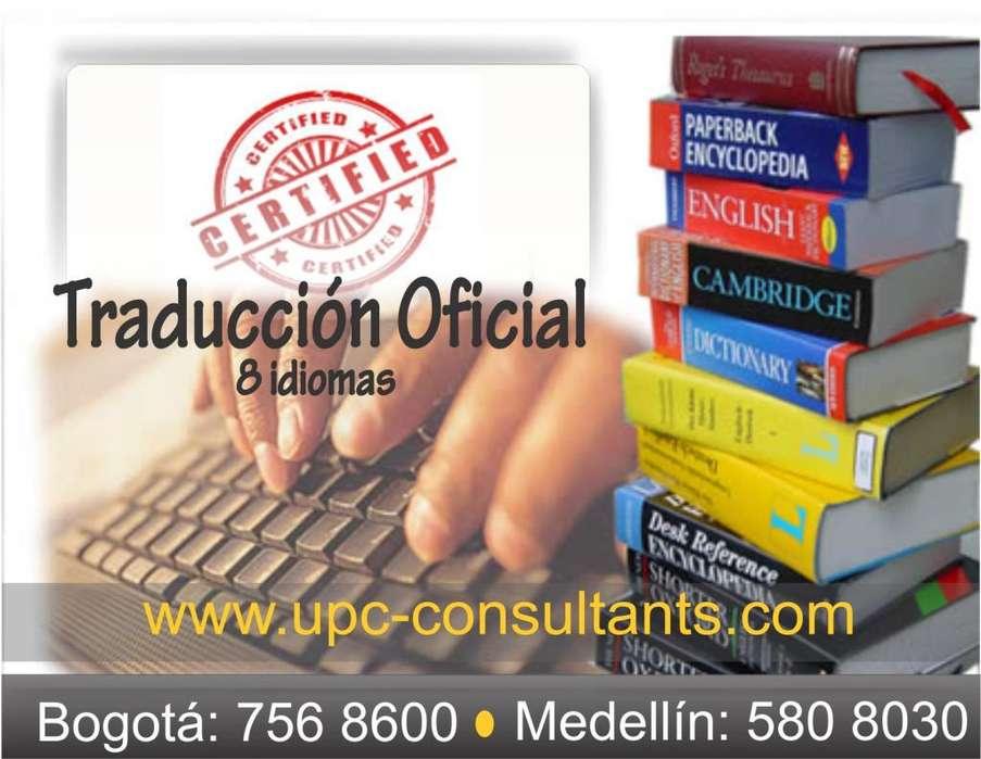 TRADUCTORES OFICIALES EN 8 IDIOMAS...REGISTRADOS EN LISTA DE LA CANCILLERÍA, EN EL 1 7568600!