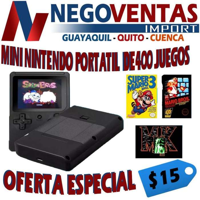 MINI CONSOLA PORTATIL RETRO DE 400 JUEGOS