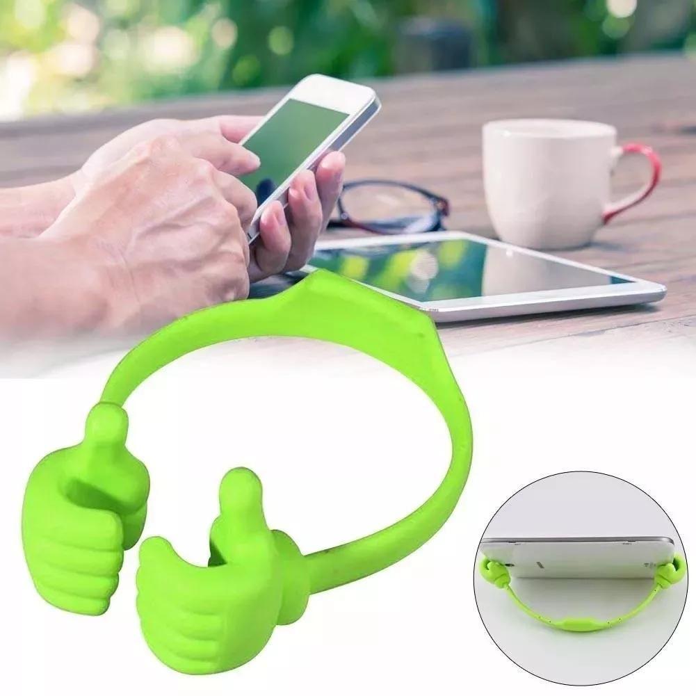 Soporte Para Tablet O Celular Manos Verde Negro