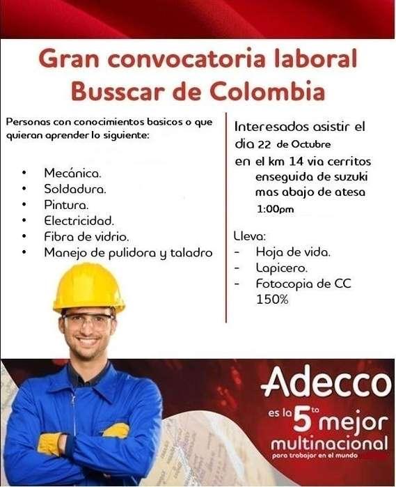 Gran convocatoria laboral <strong>auxiliar</strong> de produccion