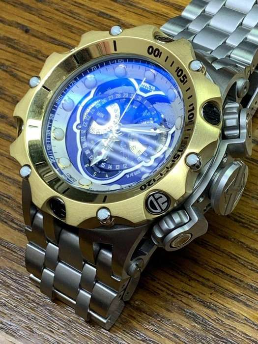 Invicta Mens 52mm Reserve Venom Híbrido Suizo Cronógrafo Azul Dial SS Watch I-1