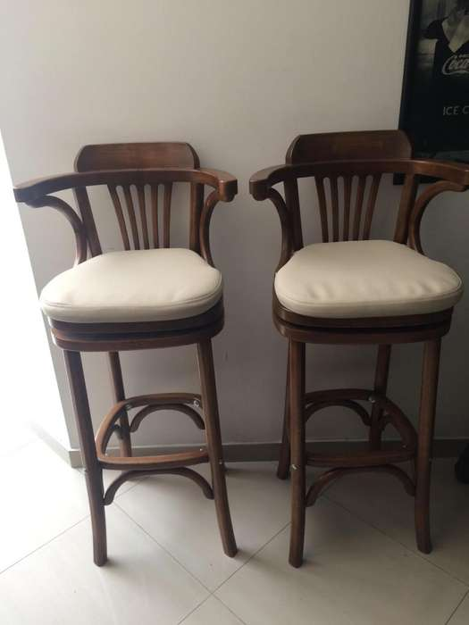 Vendo Butacos giratorios tipo bar en Roble <strong>silla</strong>s, Butacas
