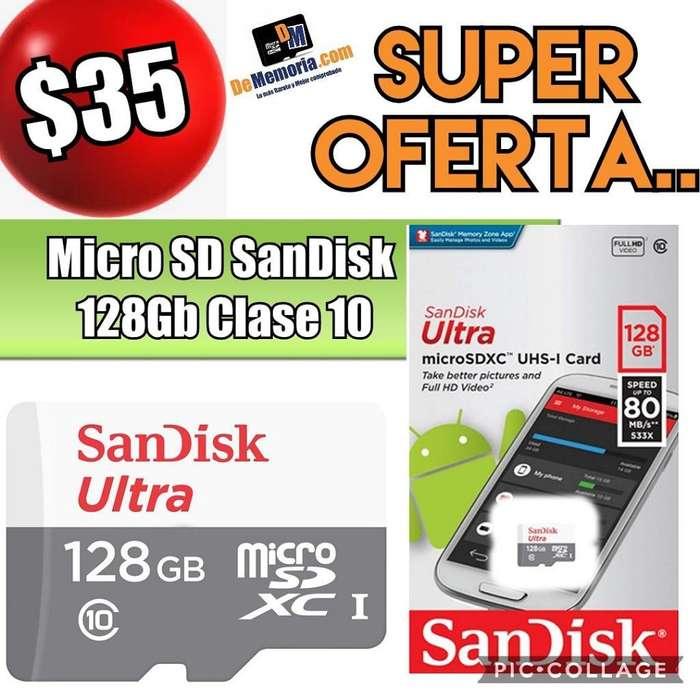Oferta Memoria Microsd Sandisk 128gb C10