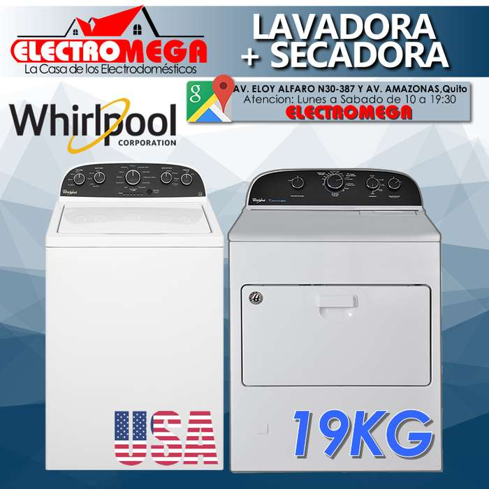 Combo Lavadora Whirlpool Secadora Whirlpool 19kg Americanas Nuevas