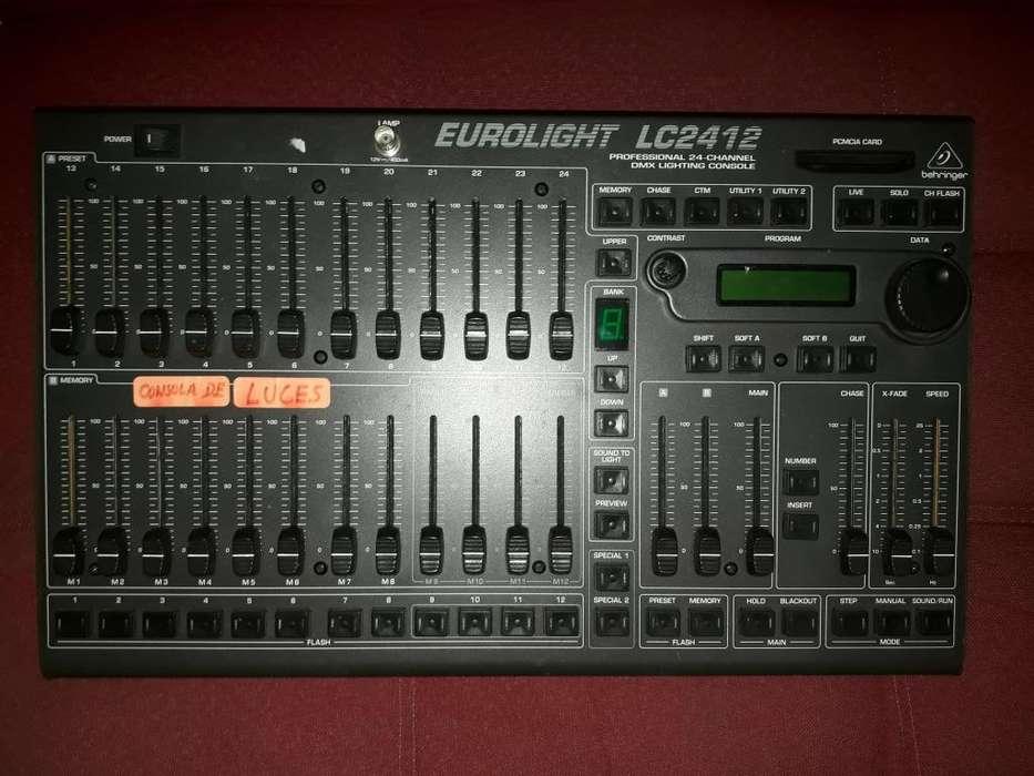 Consola de luces eurolight