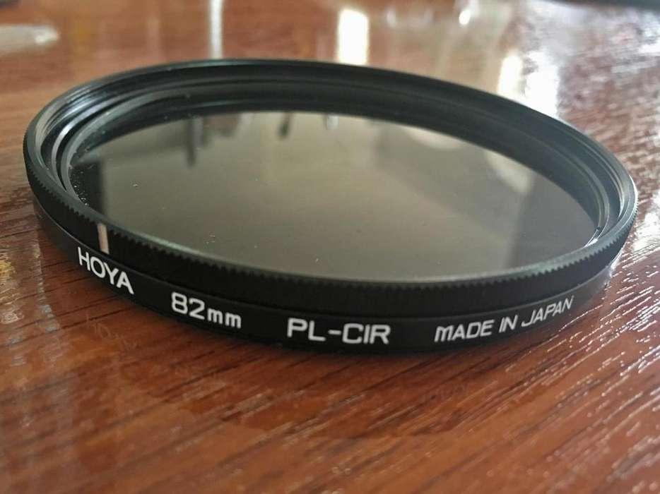 Filtro polarizador HOYA 82mm PLCIR en perfecto estado. info al 0984604552