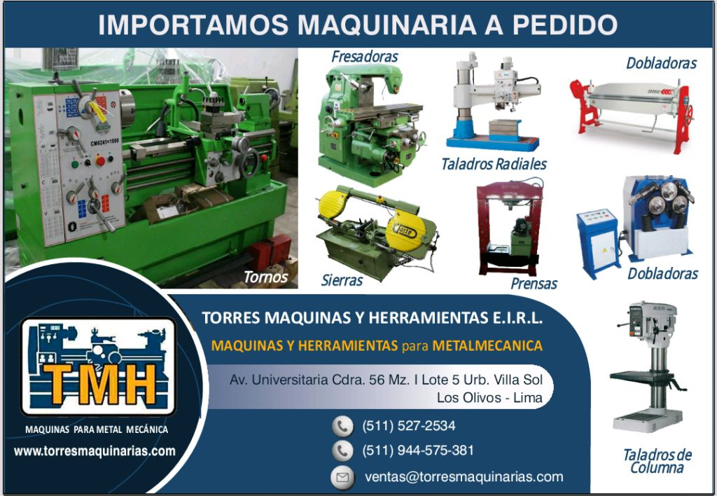 Venta de Tornos Fresadora Cepillos Taladros Prensas ETC