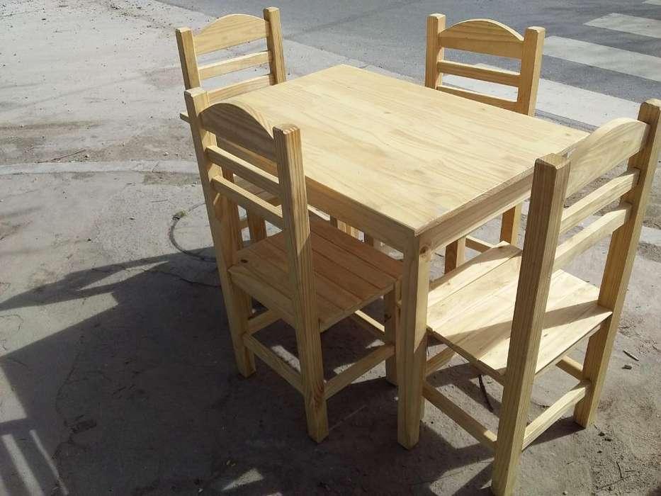 Mesa con 4 <strong>silla</strong>s Nuevas