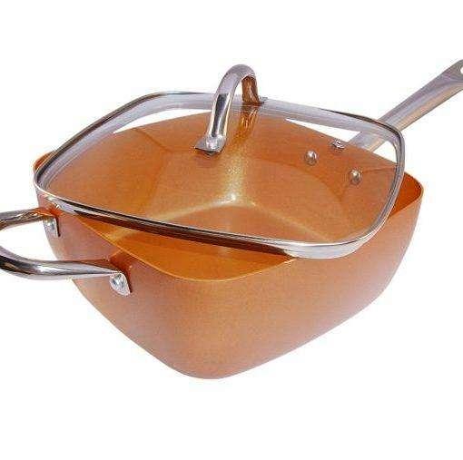 SARTEN COPPER SQUARE PAN