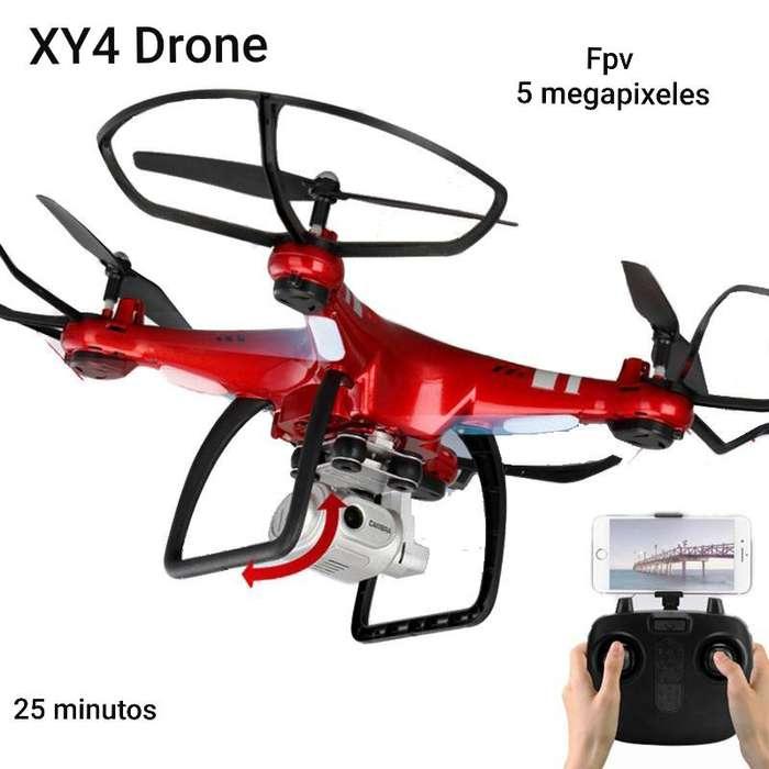 Drone Xy4s Wifi Camara Hd 5 Mpx 1080p 25 Min 150m Sensores Rc control remoto