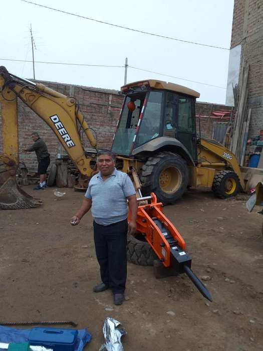 martillo hidraulico CAT 420, John Deere 310, Case 580