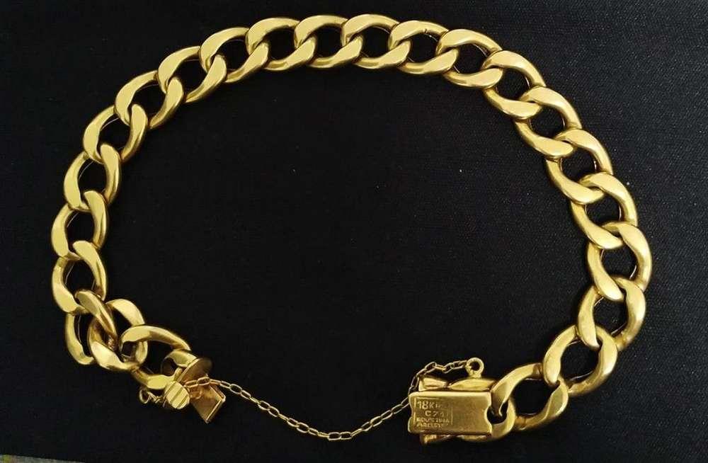 Vendo hermosa pulsera de oro