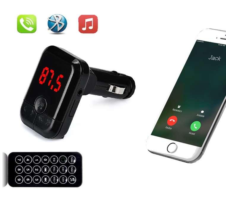 Transmisor Fm Modulador De Carro Bluetooth Micro Sd Usb 2.1