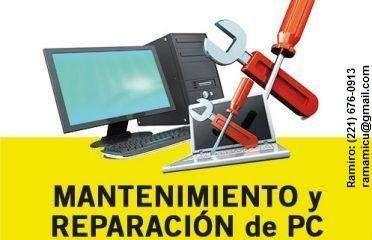 Servicio de reparacion y/o mantenimiento de PC-NOTEBOOK-NETBOOK