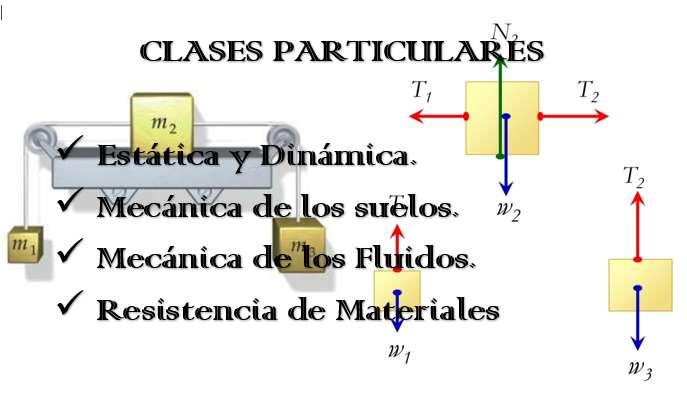 ASESORÍAS PARTICULARES DE ESTÁTICA, DINÁMICA, MECÁNICA DE SUELOS, FLUIDOS Y RESISTENCIA DE MATERIALES