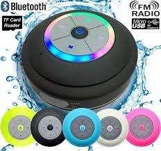 Parlante Recargable Ducha Bluetooth Radio sd Resiste Agua