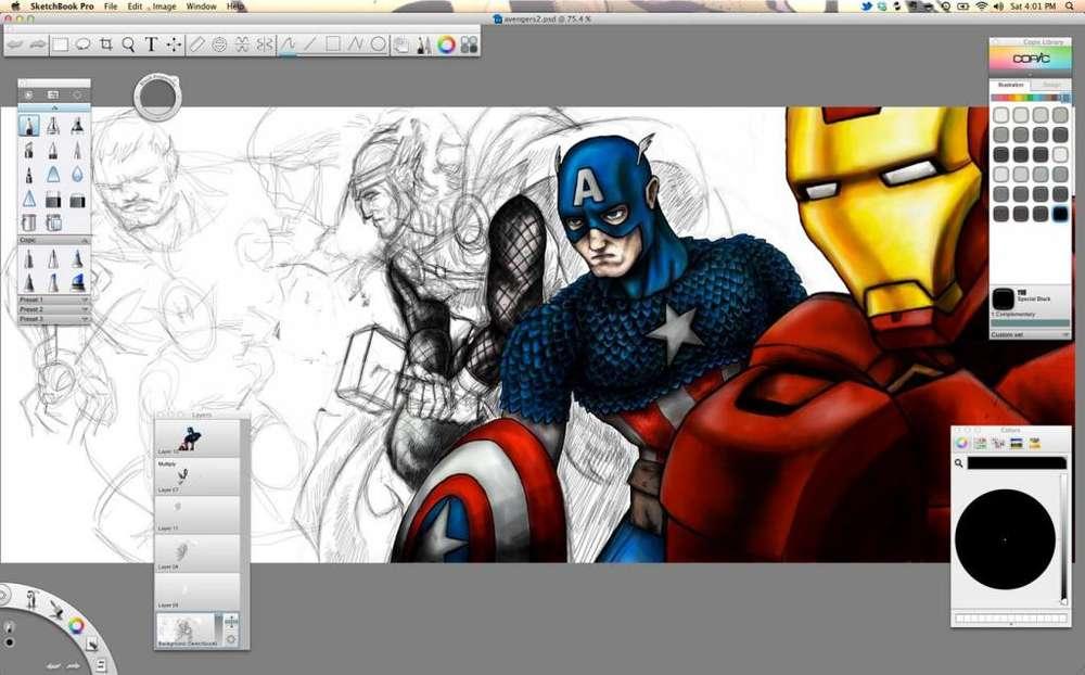 Sketch-Book Genial Software Diseño 3D Comics, Manga, Dibujo