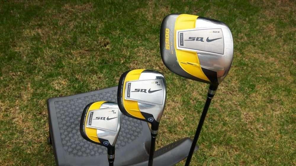 Palos de Golf, Driver y Maderas 3 y 5, marca NIKE SQ Sumo 2