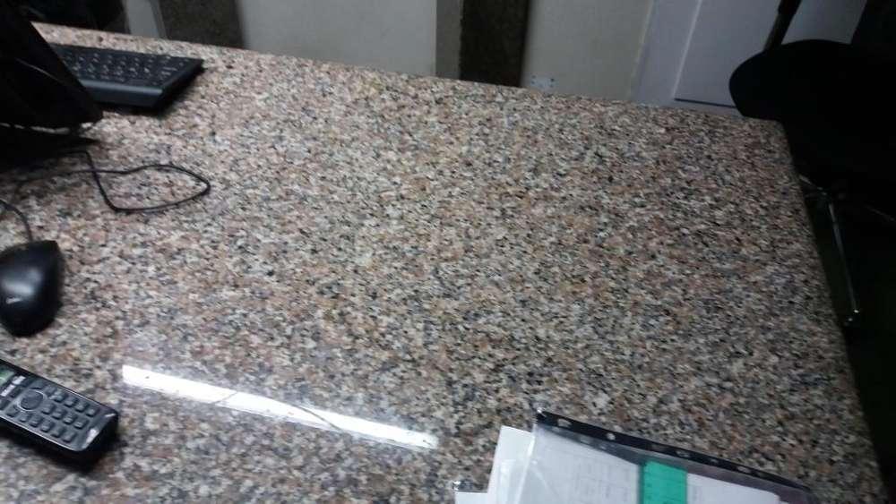 juego de escritorio doble ministro de granito, mesada granito, sillon