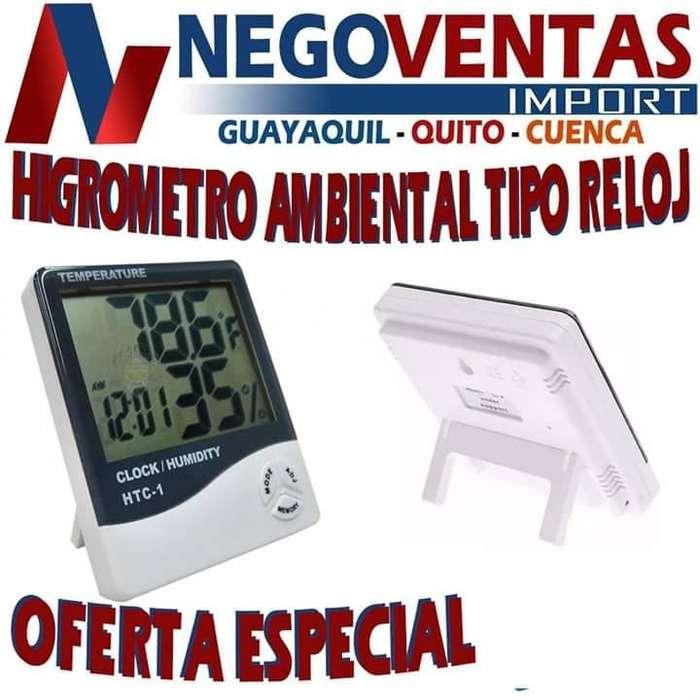 HIDRÓMETRO AMBIENTAL TIPO RELOJ PRECIO OFERTA 7,00