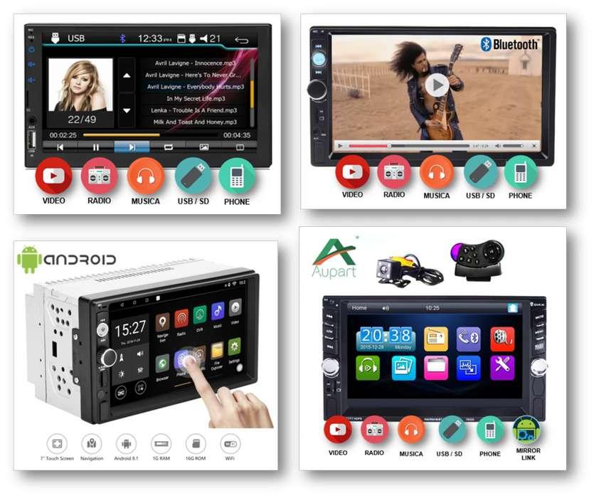 Radio Pantalla Tactil Audio Video Bluetoth