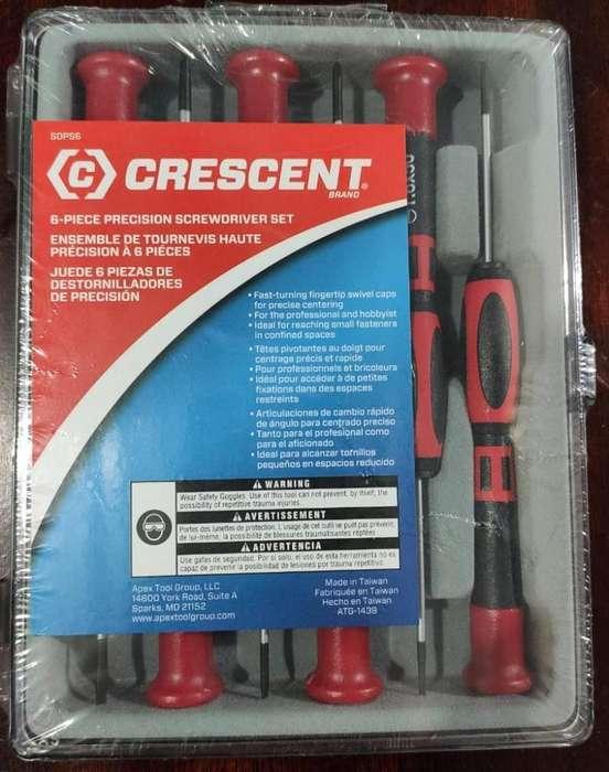 Destornilladores De Precisión Crescent 6 Piezas