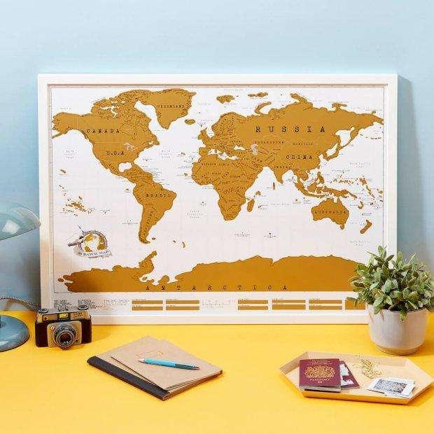 Mapa Mapamundi Para Raspar Planisferio Zona Alto Rosario BLASTER PC