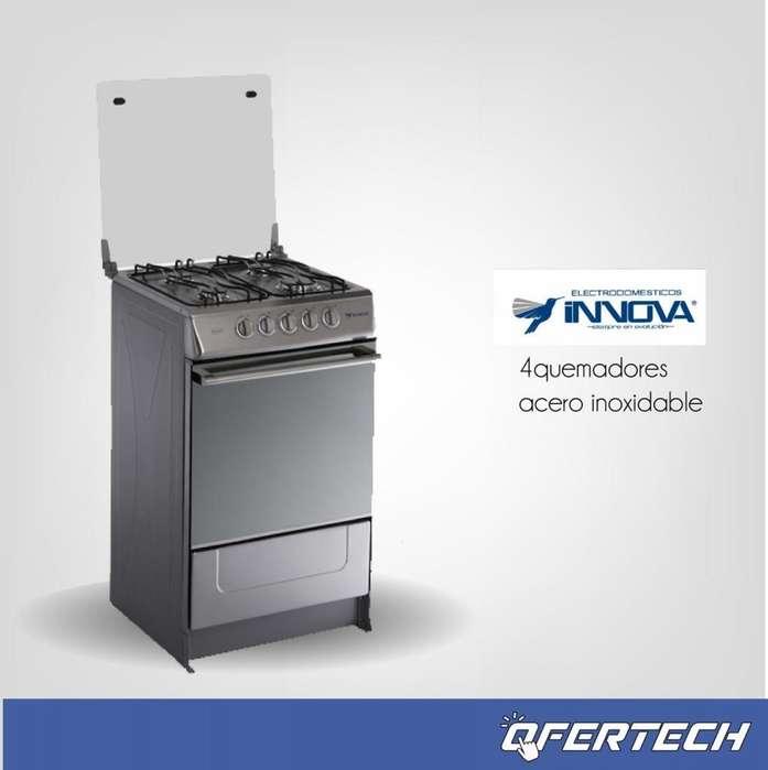 cocina a gas innova 4 quemadores inox