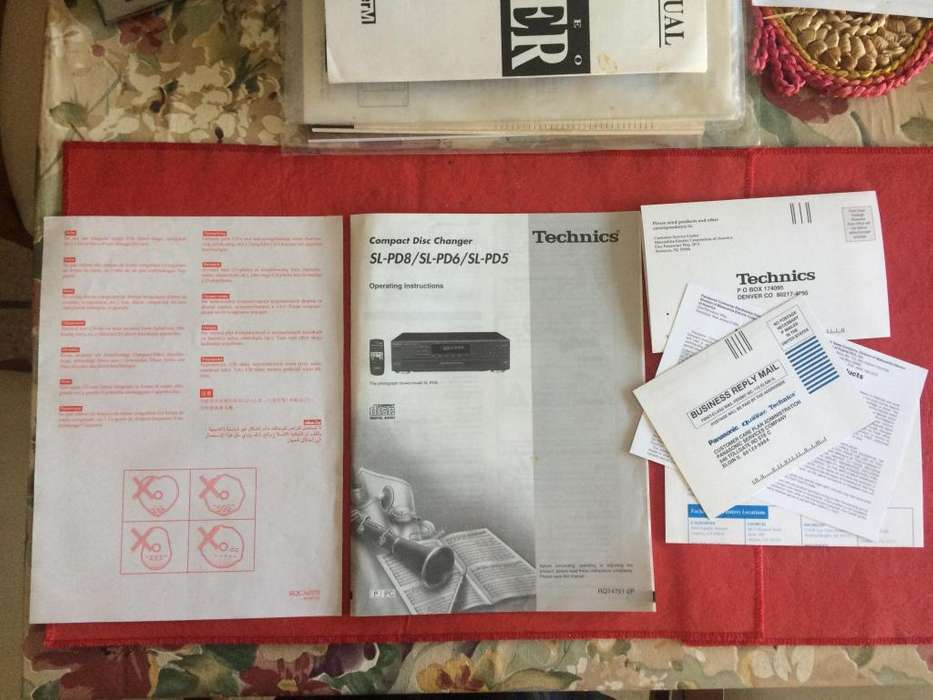 Technics Sl pd8 Sl pd6 Sl pd5 Manual De Instruccion Envio