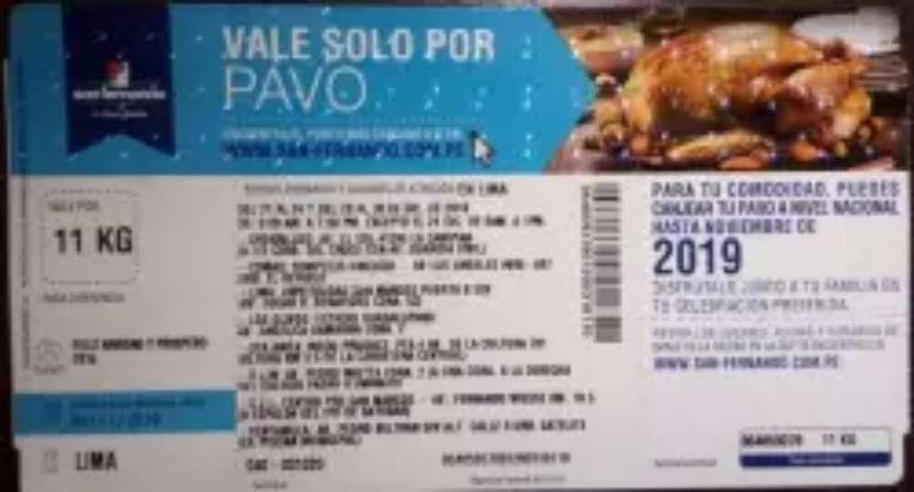 Vale de Pavo X 10 Kilos San Fernando
