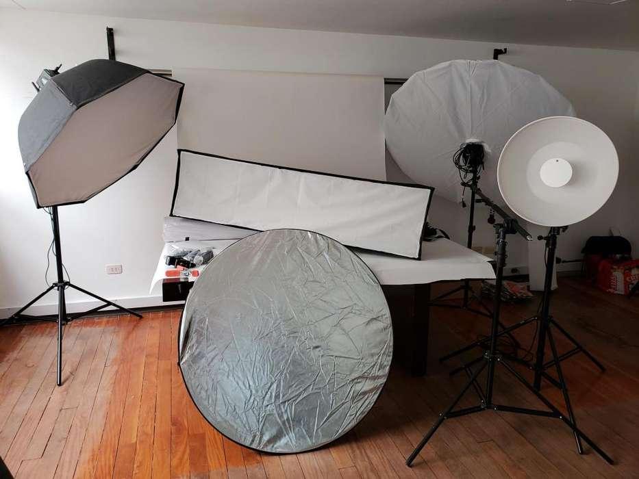 Kit de Iluminación profesional PAUL C. BUFF fotografía BAJÓ PRECIO
