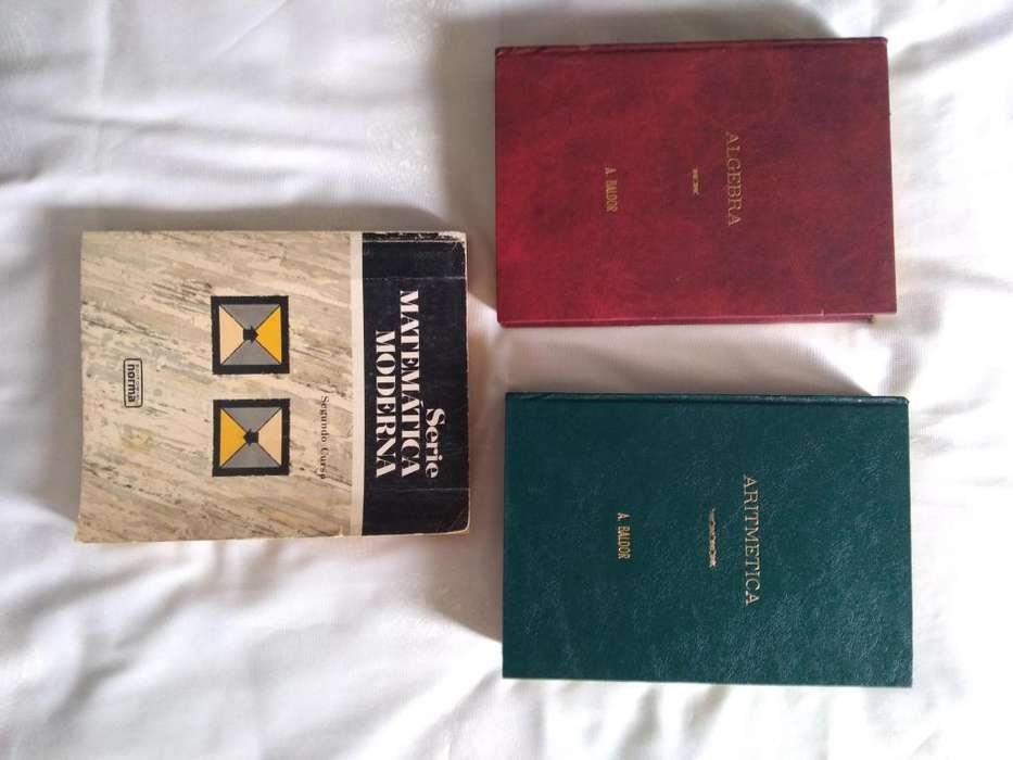 Combo de libros matemáticos Aritmetica, Algebra A. BALDOR y Matemática Moderna (VER DESCRIPCIÓN)