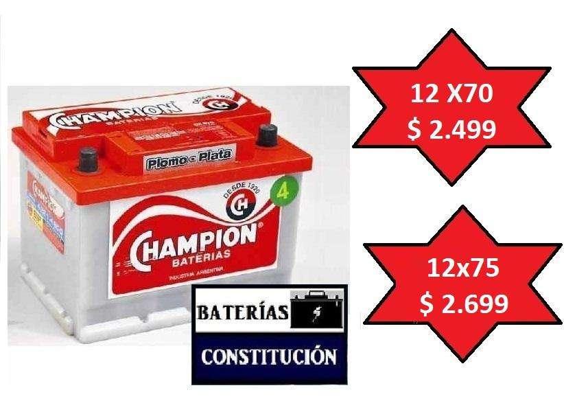 BATERAS REFORZADAS CHAMPION 12X70.--- EL MEJOR PRECIO