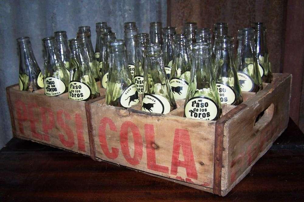 Antiguo Cajon Gaseosas Pepsi Con 24 Bot Paso De Los Toros