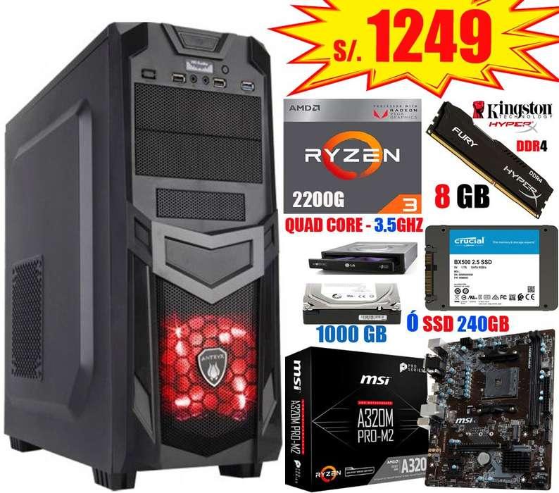 CPUs AMD Ryzen e Intel i3, i5, i7 de última generación, NUEVOS!