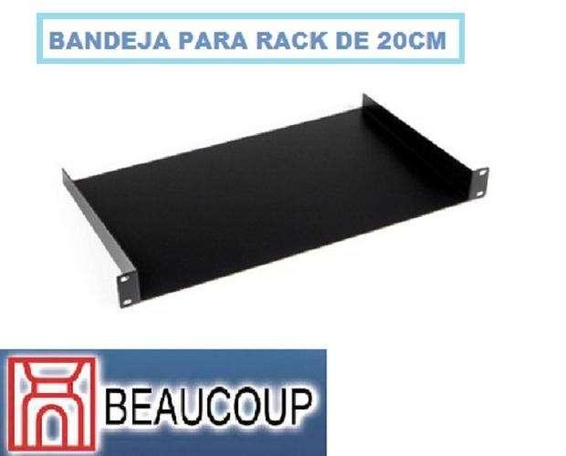 BANDEJA ESTANDAR DE RACK DE 19 PULG. 1UR 20cm MARCA BEAUCOUP I1107