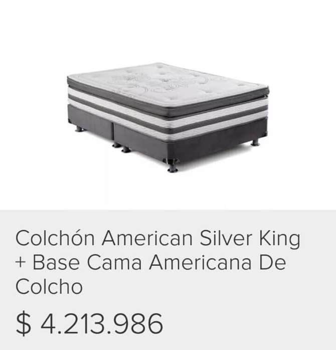 Colchon American Silver Base Cama