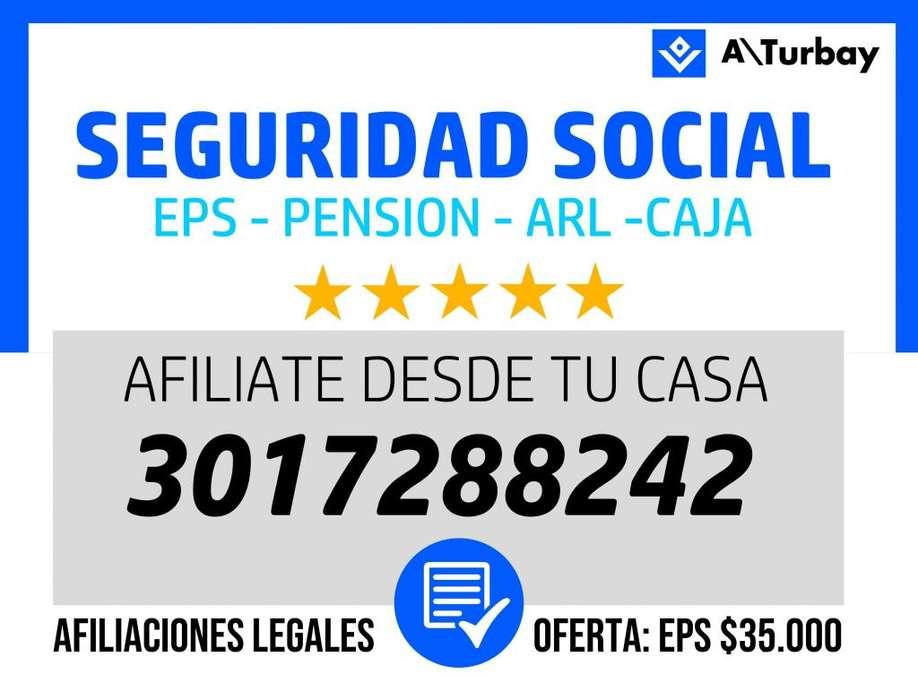 AFILIACIONES A SEGURIDAD SOCIAL POR WHATSAPP: 3017288242 - EPS Y ARL - AFILIACION SALUD PENSION RIESGOS CAJA