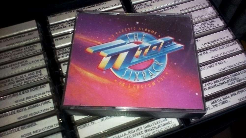 ZZ Top Six Pack primeros 6 álbumes de ZZ Top en compilado de 3 CDs Americano Made in USA más cuadernillo