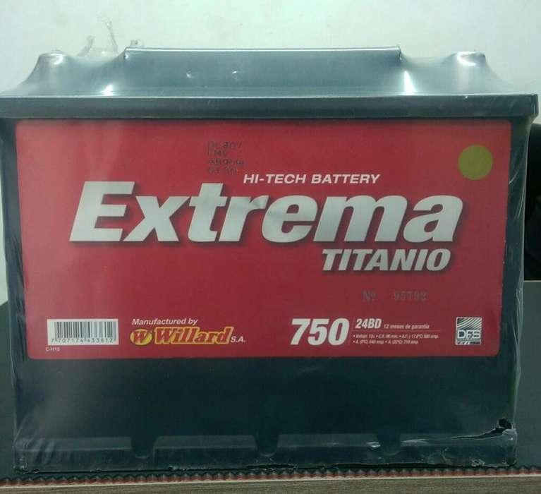Bateria Willar Extrema 750 a Domiclio