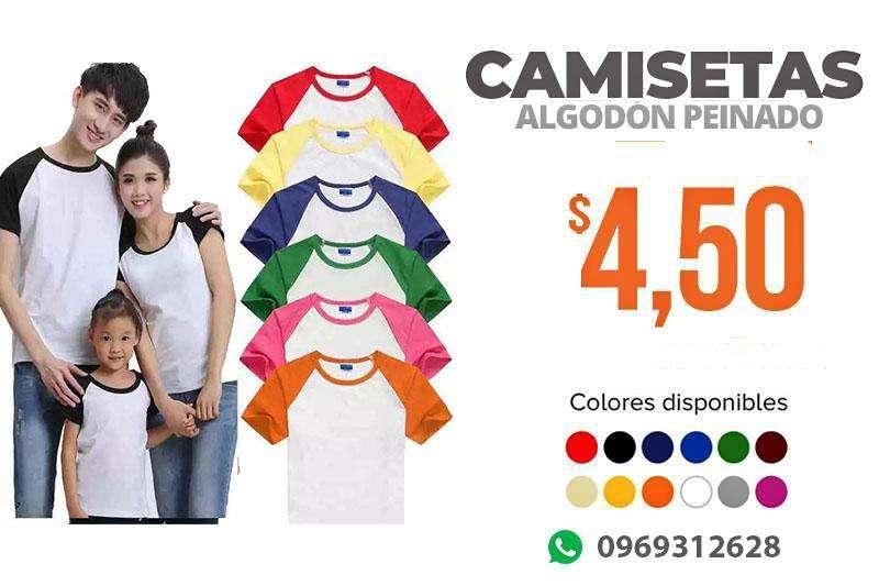 Camisetas 100 Algodón TAMBIÉN DISPONEMOS PARA SUBLIMACIÓN