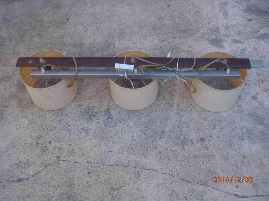 Lampara Colgante De Techo Living <strong>comedor</strong> tres porta lamparas completos impecable